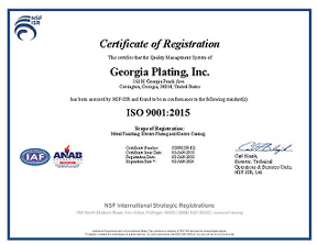 Georgia Plating, Inc - Your specialist for Zinc Plating and E